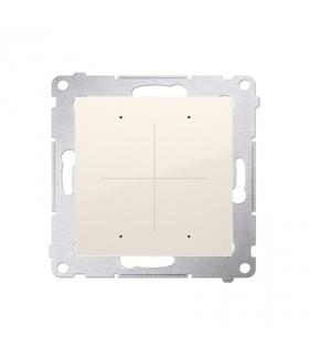 Elektroniczny łącznik / przycisk 4-krotny kremowy DEW4.01/41