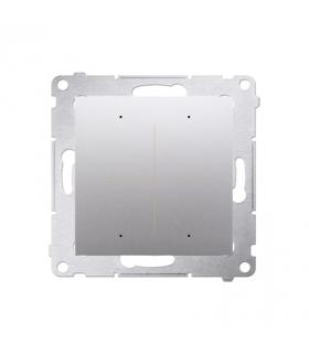 Elektroniczny łącznik / przycisk 4-krotny srebrny mat, metalizowany DEW4.01/43