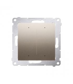 Elektroniczny łącznik / przycisk 4-krotny złoty mat, metalizowany DEW4.01/44