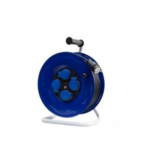 Przedłużacz na bębnie metalowym GRANDE fi 320 4x230V IP44 3x2,5 (OPD) /30m/ z termikiem i kontrolką 14600-35