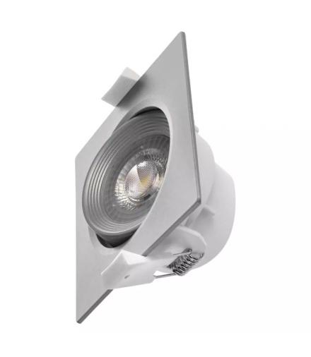 Oczko LED kwadratowe 5W ciepła biel, srebrny EMOS ZD3660