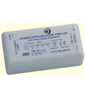 ZASILACZ IMPULSOWY LED 10V / 10W / 1A LE10.100.100 DY EMC