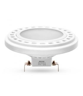 Żarówka AR111-LED, 12W, barwa światła neutralna biała, obudowa w kolorze białym, klosz mleczny, kąt rozsyłu światła 120°