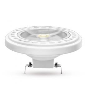 Żarówka AR111 LED G53 COB, 15W, barwa światła ciepła biała, obudowa w kolorze białym, klosz przezroczysty