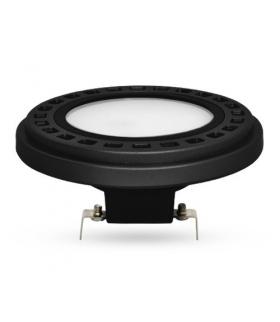 Żarówka AR111-LED, 12W, barwa światła ciepła biała, obudowa w kolorze czarnym, klosz mleczny, kąt rozsyłu światła 120°
