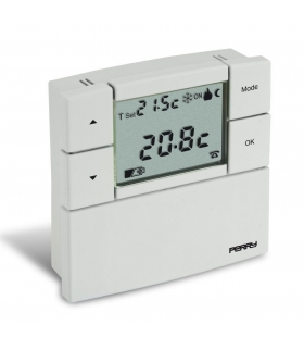 "Termostat cyfrowy, seria ""ZEFIRO"" 80 x 80, 3 V, kolor biały Seria 1TP TE530B"