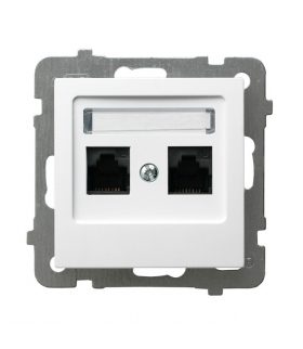 AS GPK-2G/K/m/00 Gniazdo komputerowe podwójne, kat. 5e MMC, BIAŁY