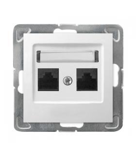 IMPRESJA GPK-2Y/K/m/00 Gniazdo komputerowe podwójne, kat. 5e MMC, BIAŁY