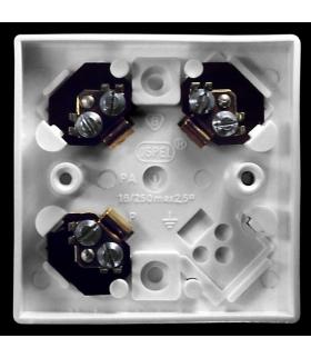 KAPPA PWP-3K/00 Puszka 3-zaciskowa do wyrobów z serii Kappa, BIAŁY