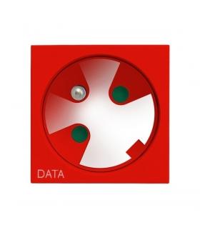 OSPEL45 GK-1ZK/22 Gniazdo pojedyncze z uziemieniem DATA z kluczem uprawniającym, CZERWONY