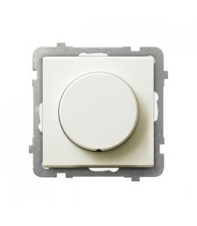 SONATA ŁP-8R/m/27 Ściemniacz przyciskowo-obrotowy przystosowany do obciążenia żarowego i halogenowego, ECRU