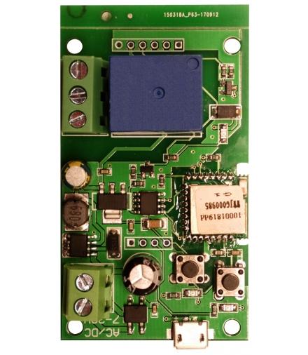 STEROWNIK WiFi WS-70H1 - sterownik do bram, DC 5V, DC 7-32V, AC 7-32V / 3A