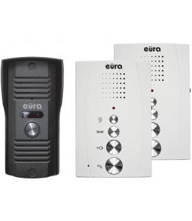 DOMOFON ''EURA'' ADP-51A3 ''DIFESA'' - 1-rodzinny, 2 unifony, interkom, biały