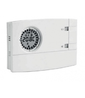 Analogowy-cyfrowy chronotermostat tygodniowy, zasilanie 3V 2x1.5V AA