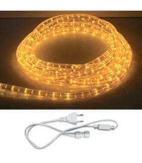 Wąż świetlny z akcesoriami LED ROPELIGHT SET 2 LINE YELLOW 10M IDEUS 02219