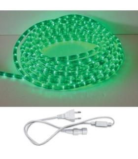 Wąż świetlny z akcesoriami LED ROPELIGHT SET 2 LINE GREEN 10M IDEUS 02222