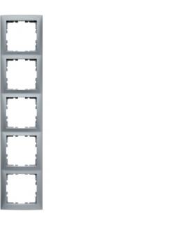 B.Kwadrat Ramka 5-krotna, alu mat, lakierowany