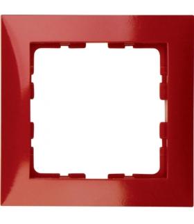 B.Kwadrat Ramka 1-krotna czerwony, połysk Berker 10118962