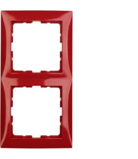 B.Kwadrat Ramka 2-krotna, czerwony połysk