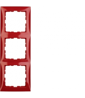 B.Kwadrat Ramka 3-krotna, czerwony połysk
