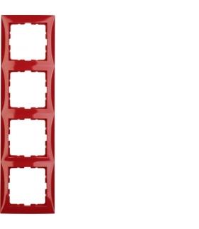 B.Kwadrat Ramka 4-krotna, czerwony połysk