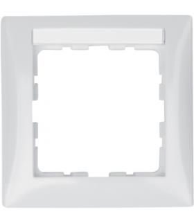 B.Kwadrat Ramka 1-krotna z polem opisowym, biały