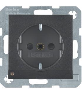 Gniazdo z uziemieniem SCHUKO z podświetleniem orientacyjnym LED antracyt mat