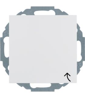 Gniazdo z uziemieniem SCHUKO z pokrywą z przesłonami styków biały