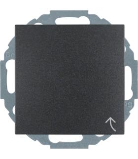 Gniazdo z uziemieniem SCHUKO z pokrywą z przesłonami styków antracyt mat