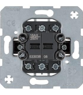 Łącznik 2-klawiszowy 2-kr uniwersalny (schodowy), mechanizm, zaciski śrubowe one.platform