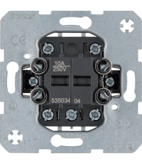 Łącznik 2-klawiszowy grupowy przyciskowy, 4 styki zwierne one.platform