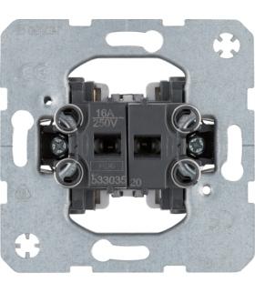 Łącznik żaluzjowy 2-klawiszowy, 1-biegunowy, samozaciski one.platform