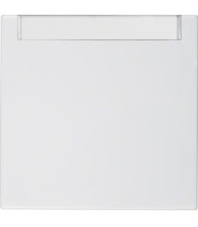 Klawisz z polem opisowym do łączników 1-klawiszowych biały