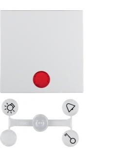 Klawisz z 5 dołączonymi soczewkami do łączników 1-klawiszowych biały mat
