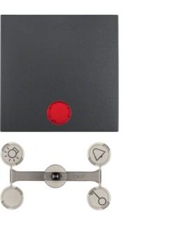 Klawisz z 5 dołączonymi soczewkami do łączników 1-klawiszowych antracyt mat