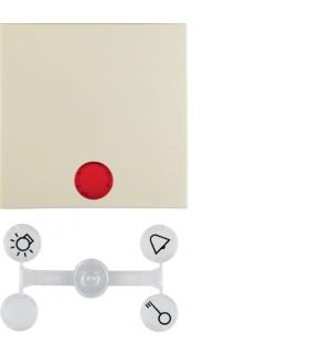 Klawisz z 5 dołączonymi soczewkami do łączników 1-klawiszowych krem