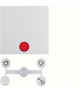 Klawisz z 5 dołączonymi soczewkami do łączników 1-klawiszowych biały