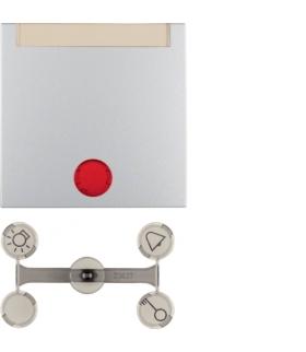 Klawisz z 5 dołączonymi soczewkami z polem opisowym do łączników 1-klawiszowych alu mat
