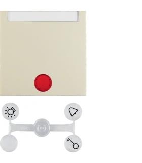 Klawisz z 5 dołączonymi soczewkami z polem opisowym do łączników 1-klawiszowych krem