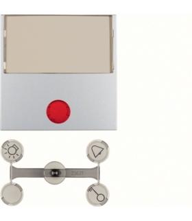 Klawisz z 5 dołączonymi soczewkami z dużym polem opisowym do łączników 1-klawiszowych alu mat