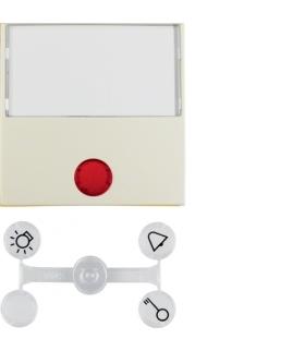 Klawisz z 5 dołączonymi soczewkami z dużym polem opisowym do łączników 1-klawiszowych krem