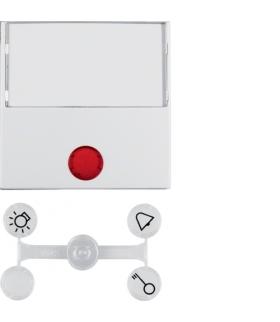 Klawisz z 5 dołączonymi soczewkami z dużym polem opisowym do łączników 1-klawiszowych biały