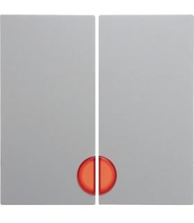 Klawisze z czerwoną soczewką, do łączników 2-klawiszowych biały