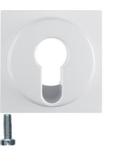 Płytka czołowa do łącznika na klucz, biały