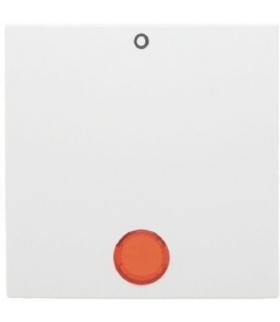 """Klawisz z czerwoną soczewką i nadrukiem """"0"""", do łączników 2- i 3-biegunowych biały"""