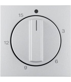 B.Kwadrat/B.7 Płytka czoł. pokręt. reg. mech. łącz. czas. 0-15 min,  alu mat,  lak
