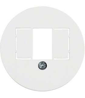 Serie 1930/Glas Płytka czołowa do gniazda głośnikowego i ładowania USB, biały Berker 1040