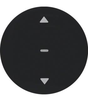 R.1/R.3/R.classic/1930/Glas KNX RF quicklink przycisk żaluzjowy,  czarny,  połysk