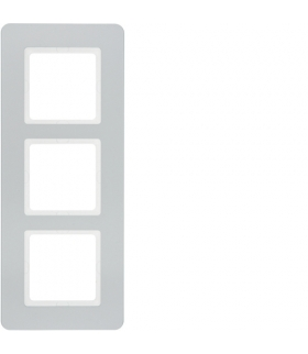 Q.7 Ramka 3-krotna, alu aksamit, lakierowany Berker 10136184
