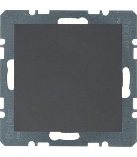 B.x Zaślepka z płytką czołową, bez pazurków rozporowych, antracyt Berker 10091606